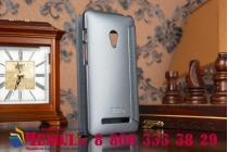 Фирменный чехол-книжка для ASUS Zenfone 5 A501CG/A500KL черный с окошком для входящих вызовов водоотталкивающий