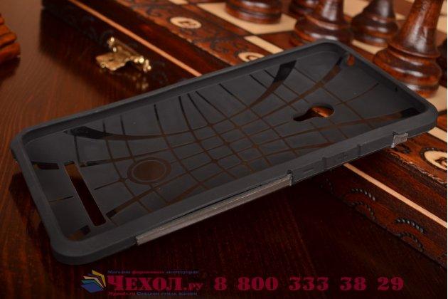Противоударный усиленный ударопрочный фирменный чехол-бампер-пенал для ASUS Zenfone 5 A501CG/A500KL  серый