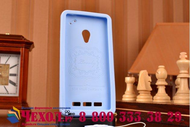 """Фирменная необычная уникальная полимерная мягкая задняя панель-чехол-накладка для ASUS Zenfone 5 / Zenfone 5 LTE A501CG/A500KL +  """"тематика Андроид в черничном шоколаде"""""""