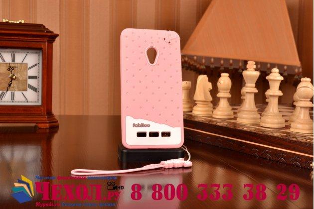"""Фирменная необычная уникальная полимерная мягкая задняя панель-чехол-накладка для ASUS Zenfone 5 / Zenfone 5 LTE A501CG/A500KL """"тематика Андроид в клубничном шоколаде"""""""