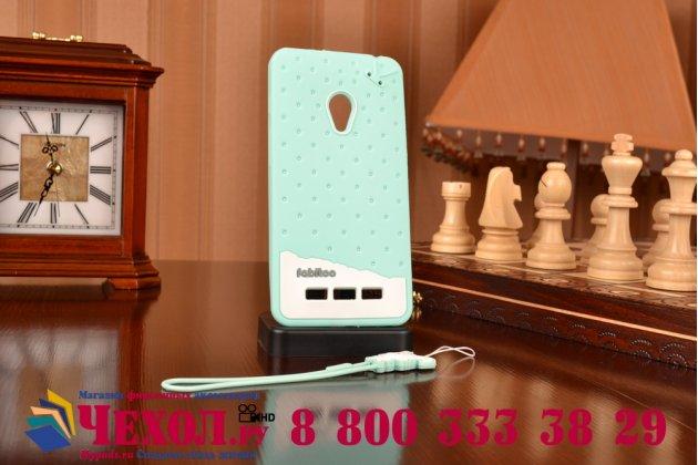 """Фирменная необычная уникальная полимерная мягкая задняя панель-чехол-накладка для ASUS Zenfone 5 / Zenfone 5 LTE A501CG/A500KL """"тематика Андроид в мятном шоколаде"""""""