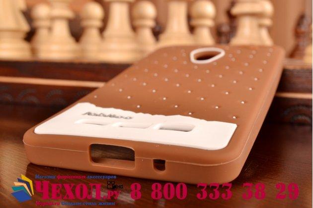 """Фирменная необычная уникальная полимерная мягкая задняя панель-чехол-накладка для ASUS Zenfone 5 / Zenfone 5 LTE A501CG/A500KL """"тематика Андроид в тёмном Шоколаде"""""""