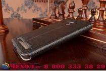 Фирменный чехол-книжка для ASUS Zenfone 6 A600CG/A601CG черный с окошком для входящих вызовов и свайпом водоотталкивающий