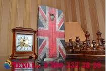 """Фирменный чехол-книжка с рисунком на тему """"Ретро Британский флаг"""" на ASUS Zenfone 6 A600CG/A601CG с окошком для звонков"""