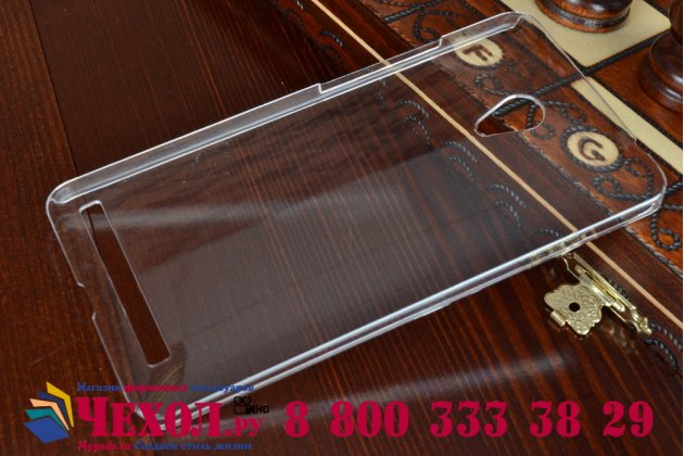Фирменная ультра-тонкая пластиковая задняя панель-чехол-накладка для ASUS Zenfone 6 A600CG/A601CG прозрачная