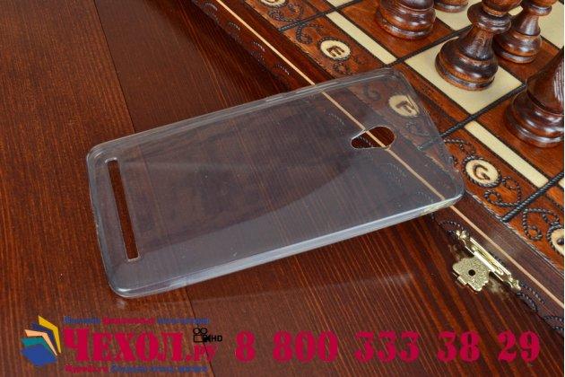 Фирменная ультра-тонкая полимерная из мягкого качественного силикона задняя панель-чехол-накладка для ASUS Zenfone 6 A600CG/A601CG черная