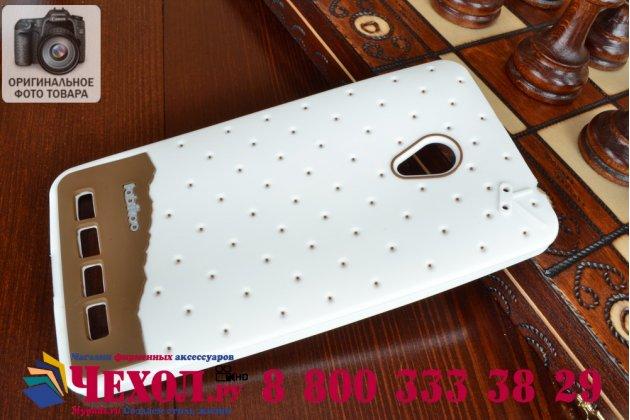 """Фирменная необычная уникальная полимерная мягкая задняя панель-чехол-накладка для ASUS Zenfone 6 A600CG/A601CG """"тематика Андроид в Белом Шоколаде"""""""