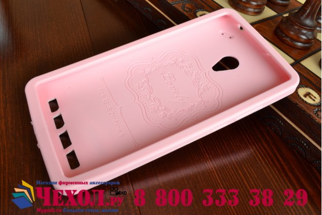 """Фирменная необычная уникальная полимерная мягкая задняя панель-чехол-накладка для ASUS Zenfone 6 A600CG/A601CG """"тематика Андроид в клубничном шоколаде"""""""