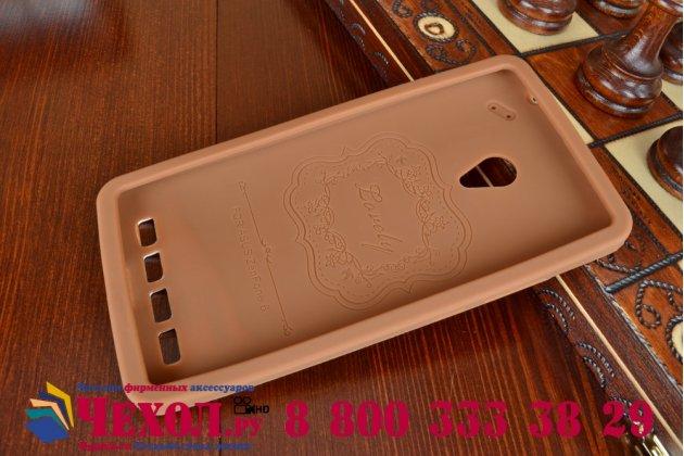 """Фирменная необычная уникальная полимерная мягкая задняя панель-чехол-накладка для ASUS Zenfone 6 A600CG/A601CG """"тематика Андроид в тёмном Шоколаде"""""""