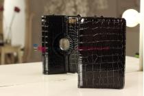 Фирменный чехол для Asus Nexus 7 1-го поколения 2012 кожа крокодила черный