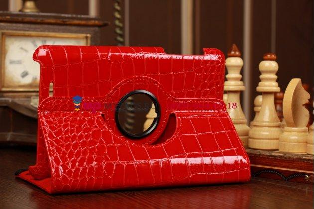 Фирменный чехол для Asus Nexus 7 1-го поколения 2012 лаковая кожа крокодила алый огненный красный