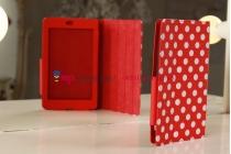 Чехол-обложка для Asus Google Nexus 7 1-го поколения 2012 красно-белый далматинец