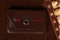 Чехол-обложка для Asus Google Nexus 7 1-го поколения 2012 поворотный коричневый кожаный