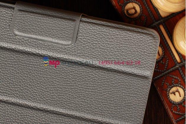 Чехол-обложка для Asus Google Nexus 7 серый кожаный