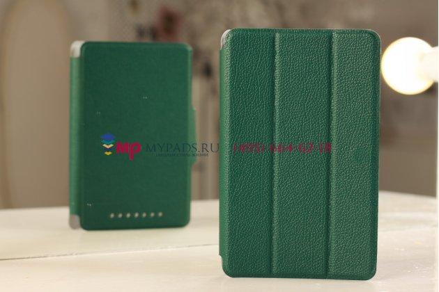 Чехол-обложка для Asus Google Nexus 7 1-го поколения 2012 зеленый кожаный