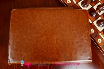 Фирменный оригинальный чехол для Asus Transformer Book T200TA-CP004H Dock Keyboard model B06I4 с док-станцией коричневый кожаный