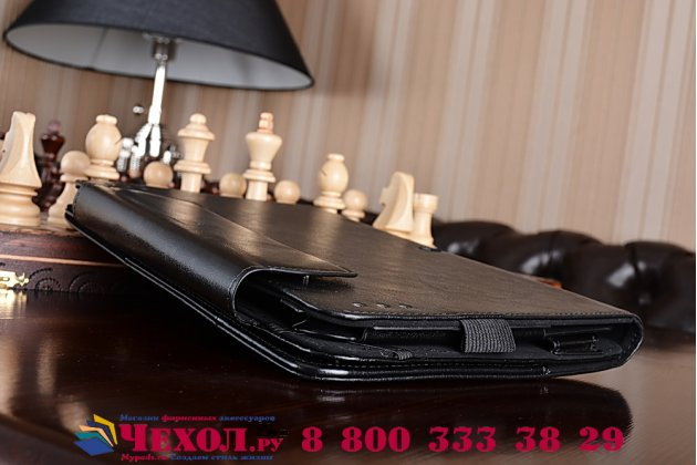 Чехол для ASUS Transformer Book T100HA / Z8500 10.1 Dock Keyboard черный с отделением под клавиатуру кожаный