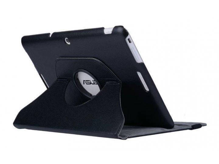 Чехол для планшета Asus Transformer Pad TF103C/TF103CG K018 поворотный роторный оборотный черный кожаный..