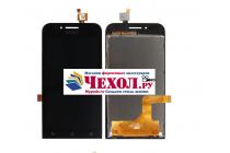 Фирменный LCD-ЖК-сенсорный дисплей-экран-стекло с тачскрином на телефон Asus Zenfone Go ZC451TG 4.5 (Z00SD) черный + гарантия