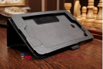 Чехол для ASUS MeMO Pad 7 ME175CG model K00Z черный кожаный с держателем для руки