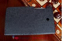 Фирменный чехол обложка для Asus Fonepad 7 FE7530CXG черный кожаный