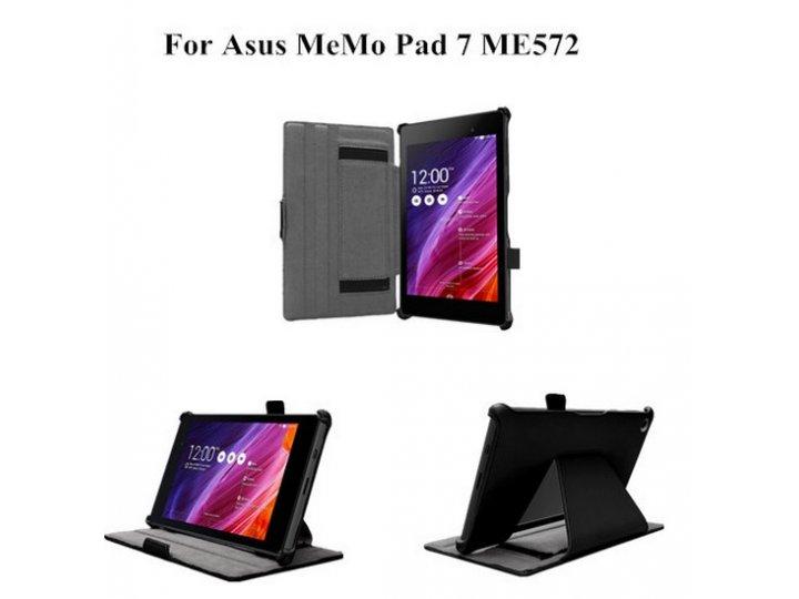 Фирменный чехол для планшета Asus Memo Pad 7 ME572C/ME572CL K00R с мульти-подставкой и держателем для руки чер..