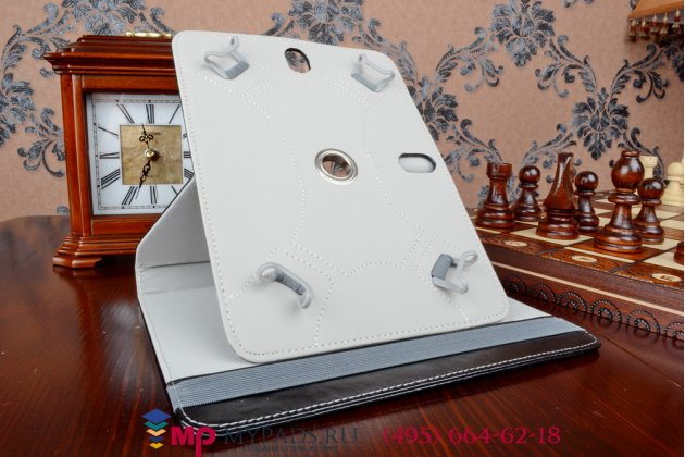 Чехол с вырезом под камеру для планшета BRAVIS NP725 3G роторный оборотный поворотный. цвет в ассортименте