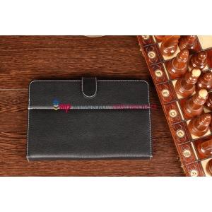 Чехол-обложка для Barnes and Noble Nook HD+ черный кожаный