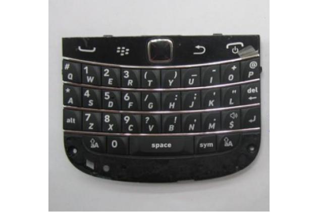 Фирменный оригинальная клавиатура для замены родной на BlackBerry Bolt 9900 (английский язык) черная + гарантия