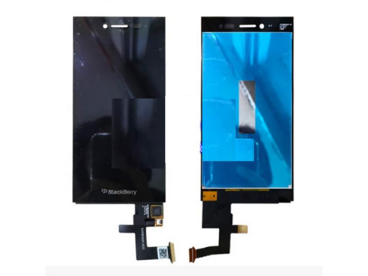 Фирменный LCD-ЖК-сенсорный дисплей-экран-стекло с тачскрином на телефон BlackBerry Leap Z20 черный + гарантия..