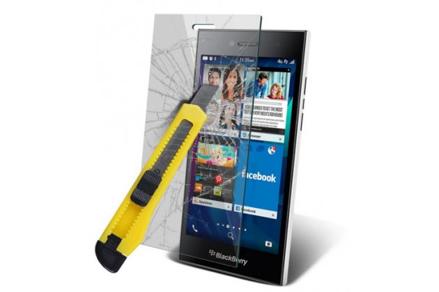 Фирменное защитное закалённое противоударное стекло премиум-класса из качественного японского материала с олеофобным покрытием для Blackberry Leap Z20