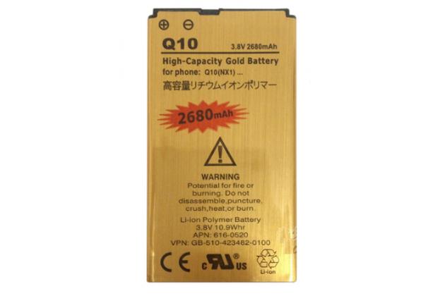 Усиленная батарея-аккумулятор большой повышенной ёмкости 2680mAh для телефона Blackberry Q10 + гарантия