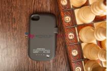 Чехол-книжка со встроенной усиленной мощной батарей-аккумулятором большой повышенной расширенной ёмкости 2800mAh для Blackberry Q10 черный + гарантия