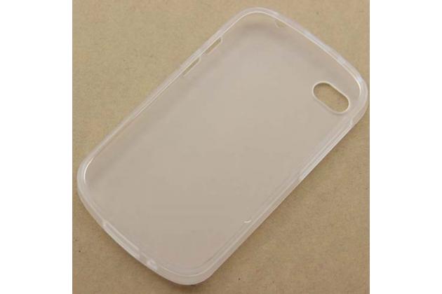 Фирменная ультра-тонкая полимерная из мягкого качественного силикона задняя панель-чехол-накладка для Blackberry Q10 белая