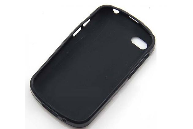 Фирменная ультра-тонкая полимерная из мягкого качественного силикона задняя панель-чехол-накладка для  Blackberry Q10 черная