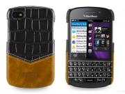 Фирменная роскошная элитная премиальная задняя панель-крышка для Blackberry Q10 из качественной кожи буйвола к..