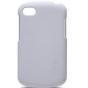 Фирменная задняя панель-крышка-накладка из тончайшего и прочного пластика для Blackberry Q10 белая..