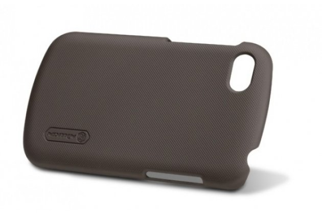 Фирменная задняя панель-крышка-накладка из тончайшего и прочного пластика для Blackberry Q10 черная