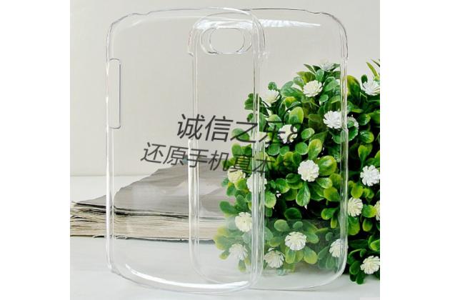Фирменная задняя панель-крышка-накладка из тончайшего и прочного пластика для Blackberry Q10 прозрачная