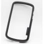 Фирменный оригинальный ультра-тонкий чехол-бампер из мягкого силикона для Blackberry Q10 черный ..