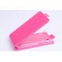 Фирменный оригинальный вертикальный откидной чехол-флип для Blackberry Q10 розовый кожаный