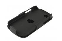 Противоударный усиленный ударопрочный фирменный чехол-бампер-пенал с клипсой на пояс для Blackberry Q10 черный