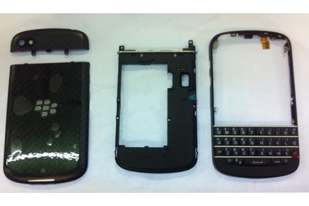 Родной оригинальный корпус с задней крышкой-панелью и клавиатурой которая шла в комплекте для Blackberry Q10 черная+ инструменты для вскрытия