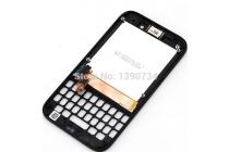 Фирменный LCD-ЖК-сенсорный дисплей-экран-стекло с тачскрином, передней панелью и клавиатурой на телефон Blackberry Q5 черный + гарантия