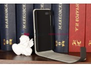 Фирменный оригинальный вертикальный откидной чехол-флип  для Blackberry Z10 черный кожаный..
