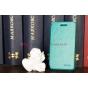 Фирменный чехол-книжка из качественной импортной кожи для Blackberry Z10 зеленый кожаный..