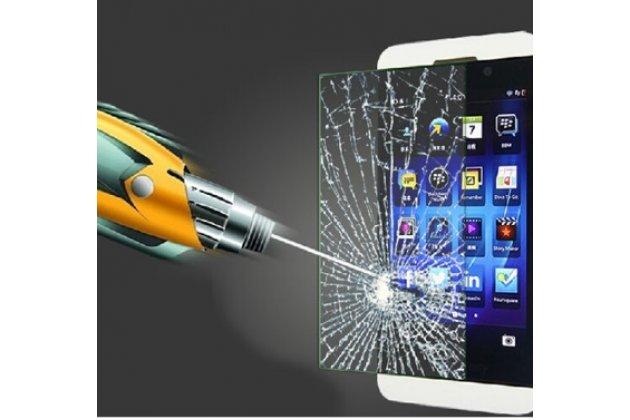 Фирменное защитное закалённое противоударное стекло премиум-класса из качественного японского материала с олеофобным покрытием для Blackberry Z10