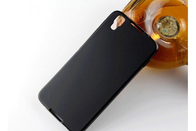 Фирменная ультра-тонкая полимерная из мягкого качественного силикона задняя панель-чехол-накладка для BlackBerry Neon/ BlackBerry DTEK50 черная