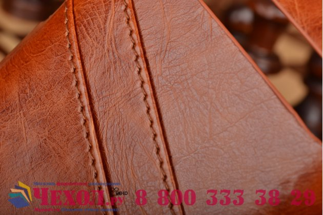 Фирменная роскошная элитная премиальная задняя панель-крышка для BlackBerry Q20 Classic из качественной кожи буйвола с визитницей коричневый