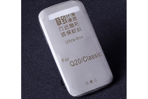Фирменная ультра-тонкая полимерная из мягкого качественного силикона задняя панель-чехол-накладка для BlackBerry Q20 Classic черный